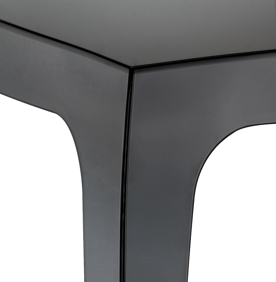 Table d´appoint ´RETRO´ design noire transparente
