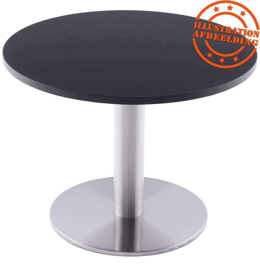 plateau de table 39 ringo 39 rond 70cm noir alterego design. Black Bedroom Furniture Sets. Home Design Ideas