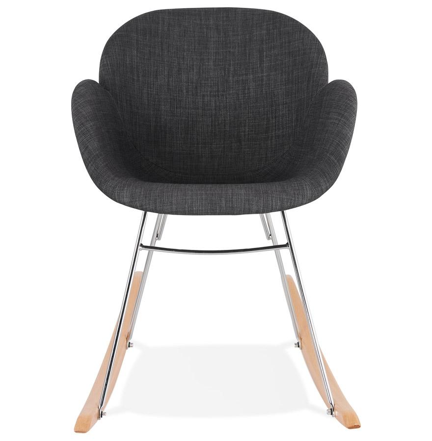 Chaise à bascule design ´ROCKY´ grise foncé en tissu