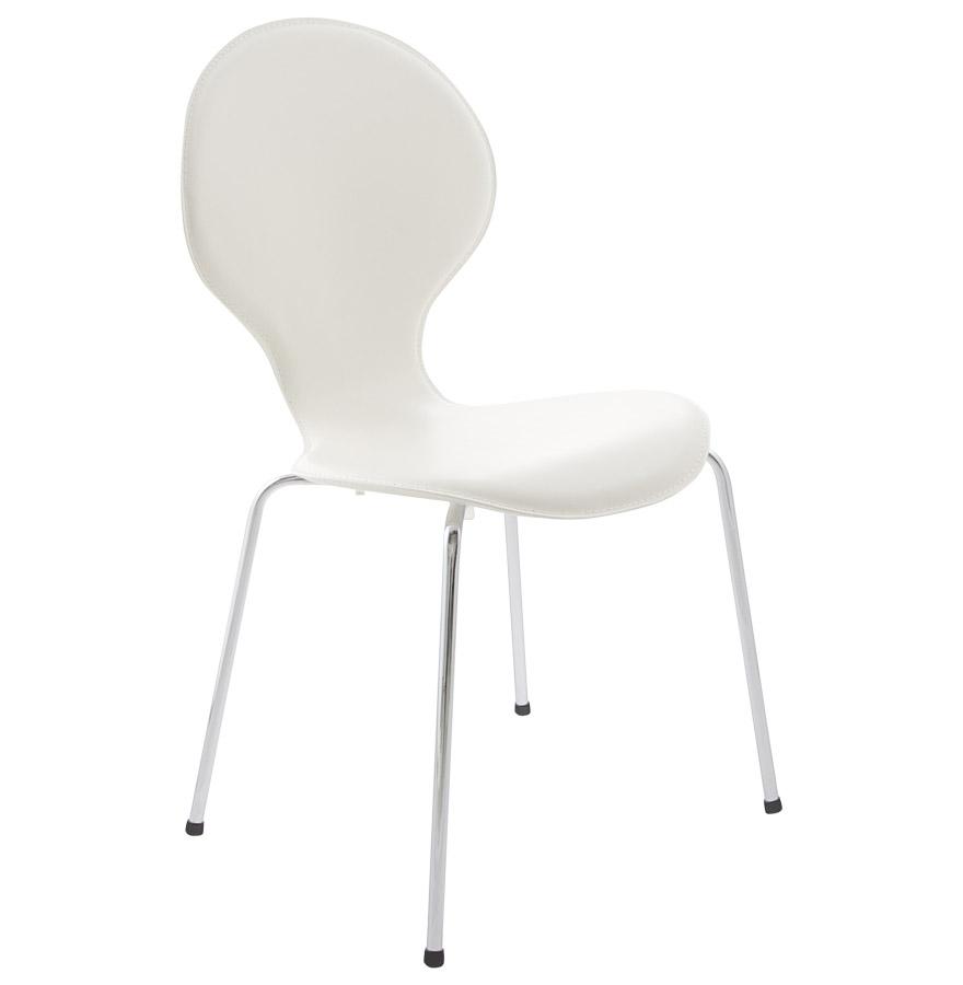 Ikea chaise de cuisine blanc table de lit a roulettes Ikea chaises cuisine