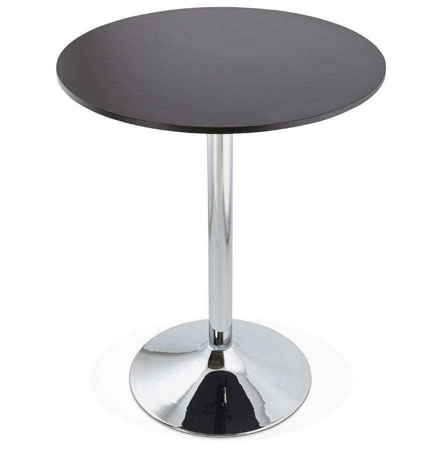 Mange-debout / table haute ´SANTIAGO´ noire - Ø 90 cm