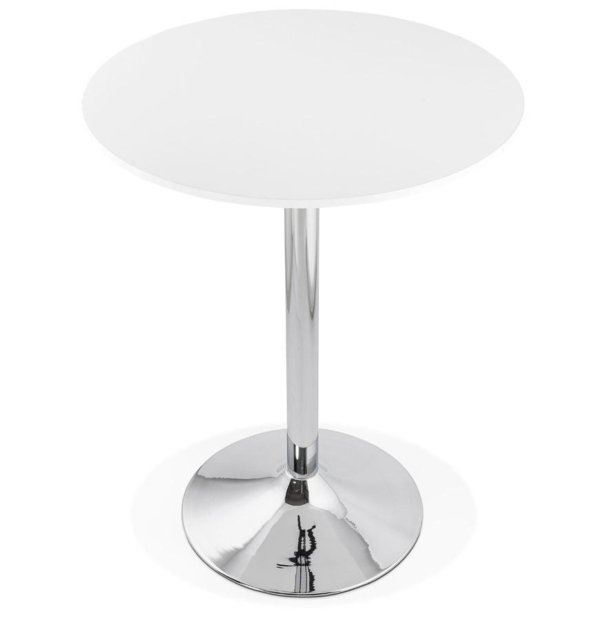 Mange-debout / table haute ´SANTIAGO´ blanche - Ø 90 cm