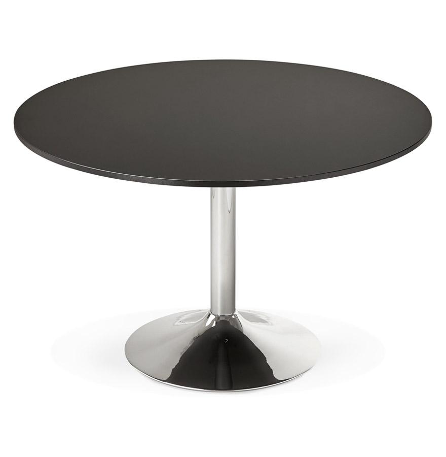 Table de bureau/à diner ronde ´SAOPOLO´ noire - Ø 120 cm