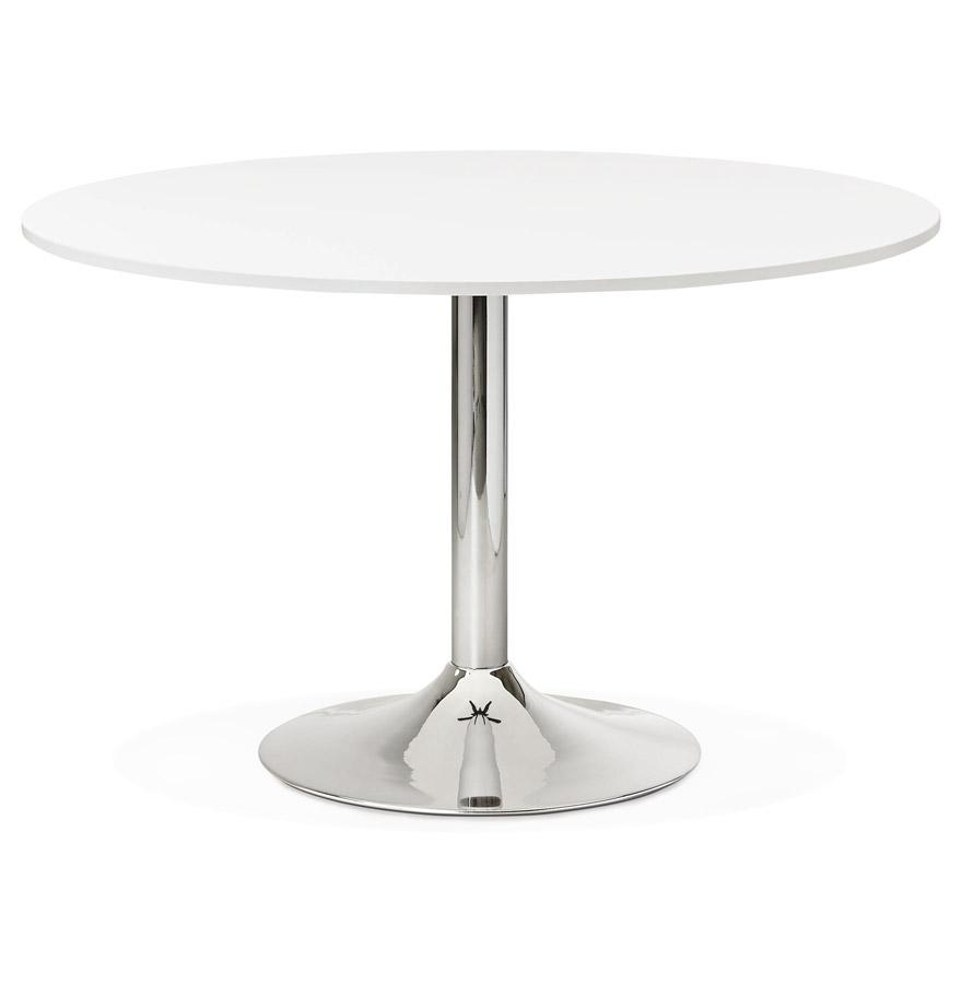 Table de bureau/à diner ronde ´SAOPOLO´ blanche - Ø 120 cm