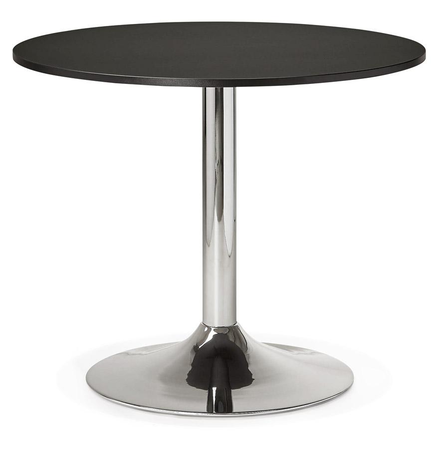 Petite table de bureau/à diner ronde ´SAOPOLO´ noire - Ø 90 cm