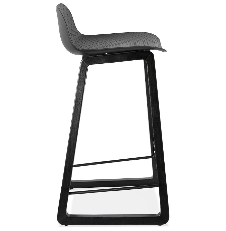 tabouret mi hauteur sashimi mini noir tabouret snack design. Black Bedroom Furniture Sets. Home Design Ideas