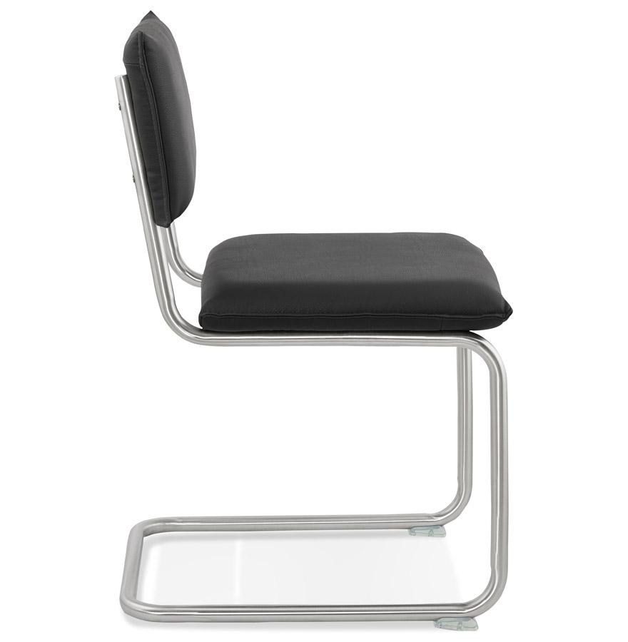 Chaise design ´SCHOOL´ en matière synthétique noire