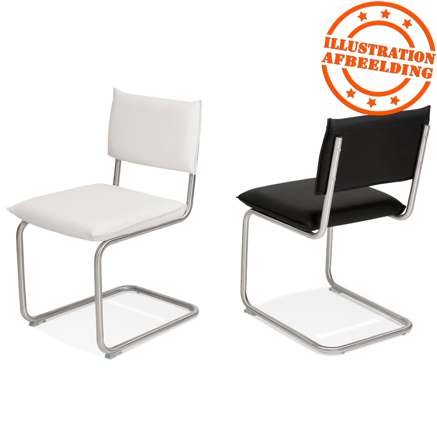 chaise design school en mati re synth tique blanche. Black Bedroom Furniture Sets. Home Design Ideas