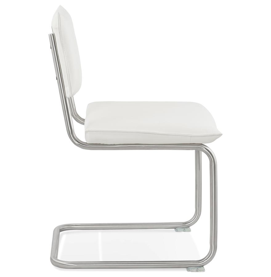 Chaise design ´SCHOOL´ en matière synthétique blanche