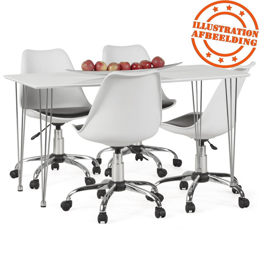 chaise de bureau moderne sedia blanche et noire. Black Bedroom Furniture Sets. Home Design Ideas