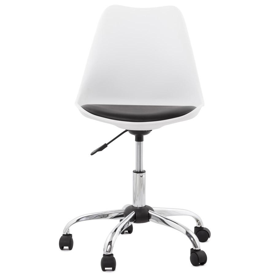 Chaise de bureau moderne ´SEDIA´ blanche et noire