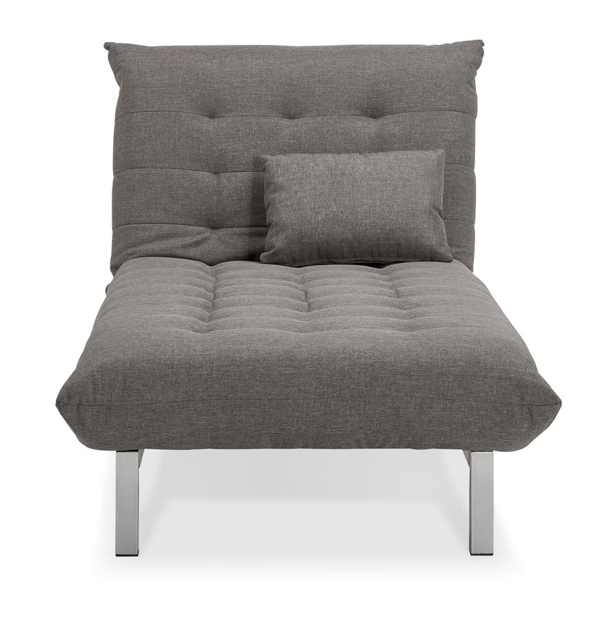 Méridienne convertible ´SIESTA BED´ en tissu gris
