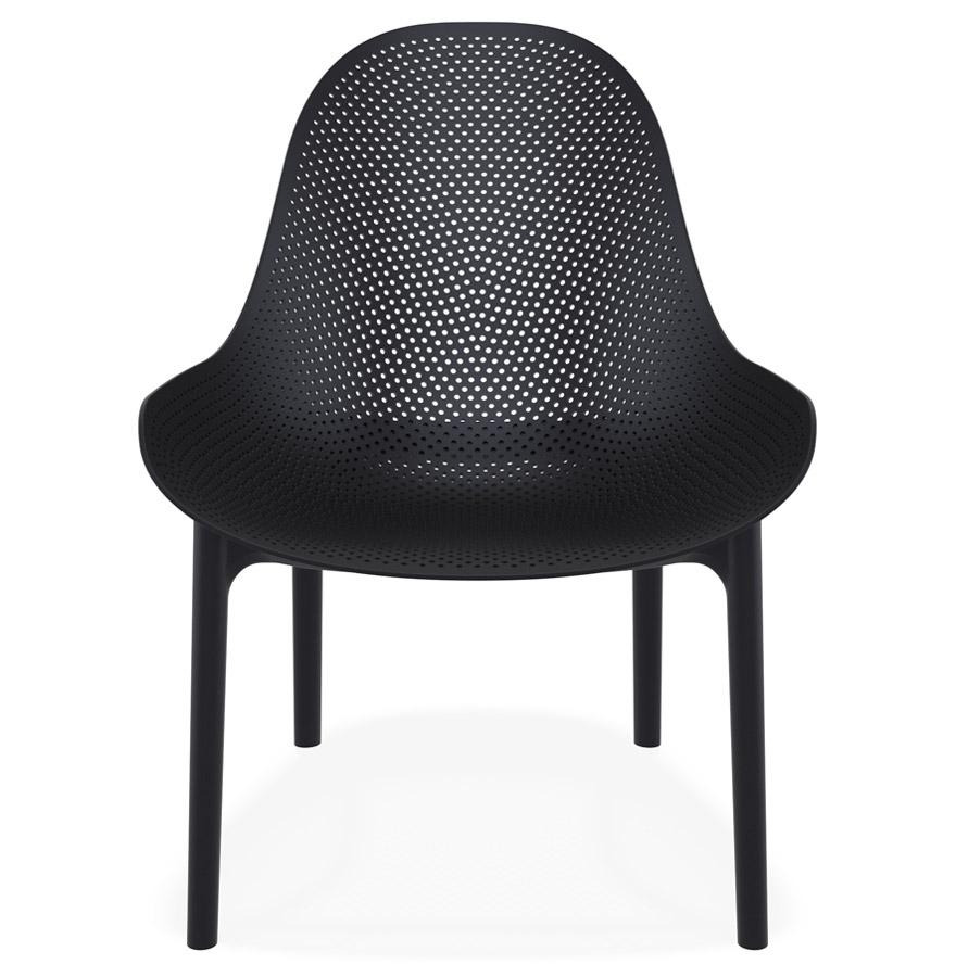 Fauteuil lounge de jardin perforé ´SILO´ noir design