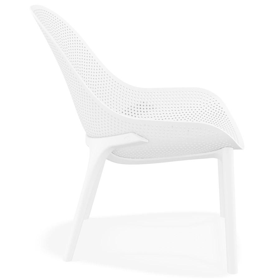 Fauteuil lounge de jardin perforé ´SILO´ blanc design