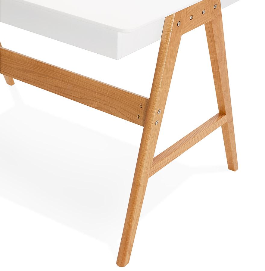 bureau droit design siroko blanc style scandinave 120x70 cm. Black Bedroom Furniture Sets. Home Design Ideas
