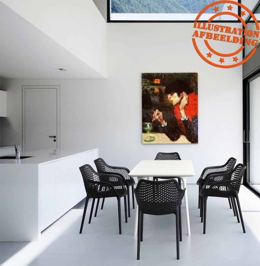 witte sister tuin terrasstoel in kunststof. Black Bedroom Furniture Sets. Home Design Ideas
