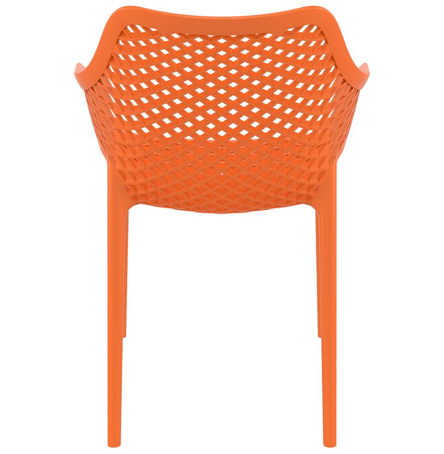 Chaise de jardin terrasse sister orange en mati re plastique - Chaise de jardin orange ...