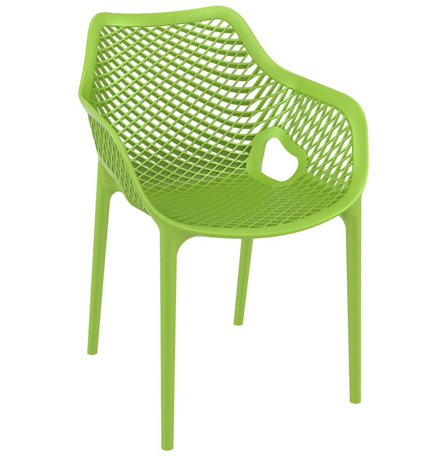 sister tropical green 04 - Chaise de jardin / terrasse ´SISTER´ verte en matière plastique