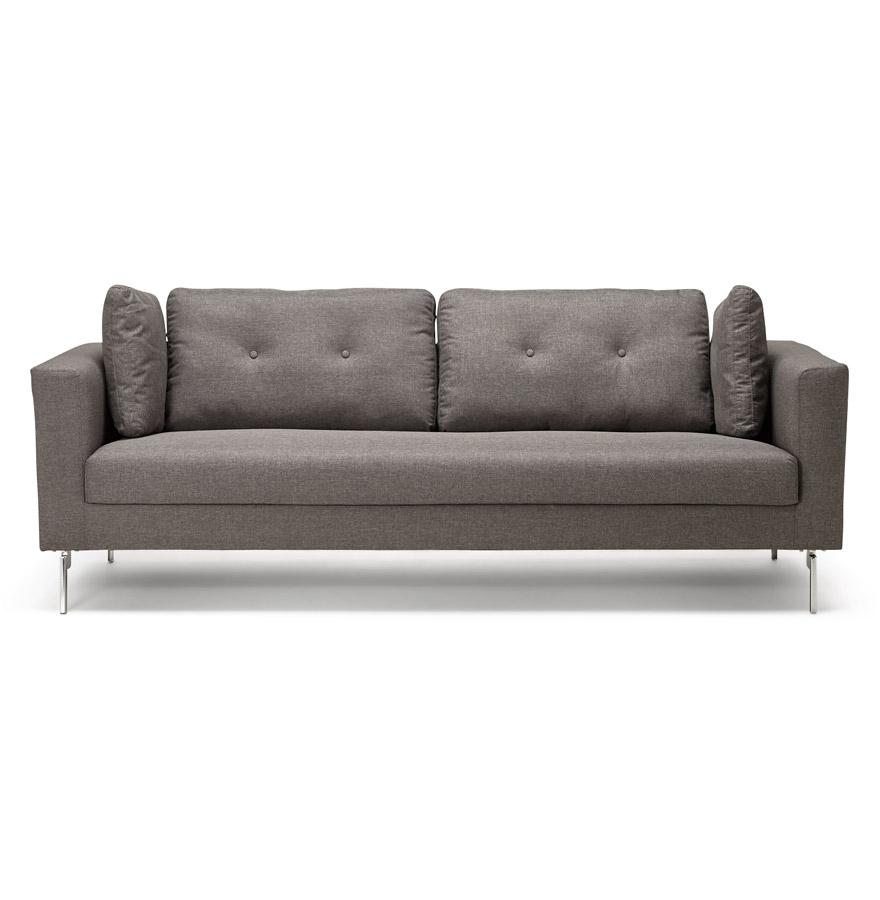 sixty dark grey h2 02 2 - Canapé droit 3 places ´SIXTY´ en tissu gris très moderne