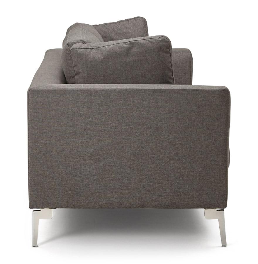 sixty dark grey h2 03 2 - Canapé droit 3 places ´SIXTY´ en tissu gris très moderne