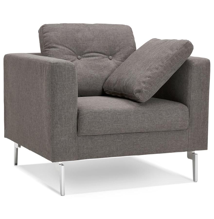 fauteuil de salon 1 place sixty mini en tissu gris tr s moderne. Black Bedroom Furniture Sets. Home Design Ideas