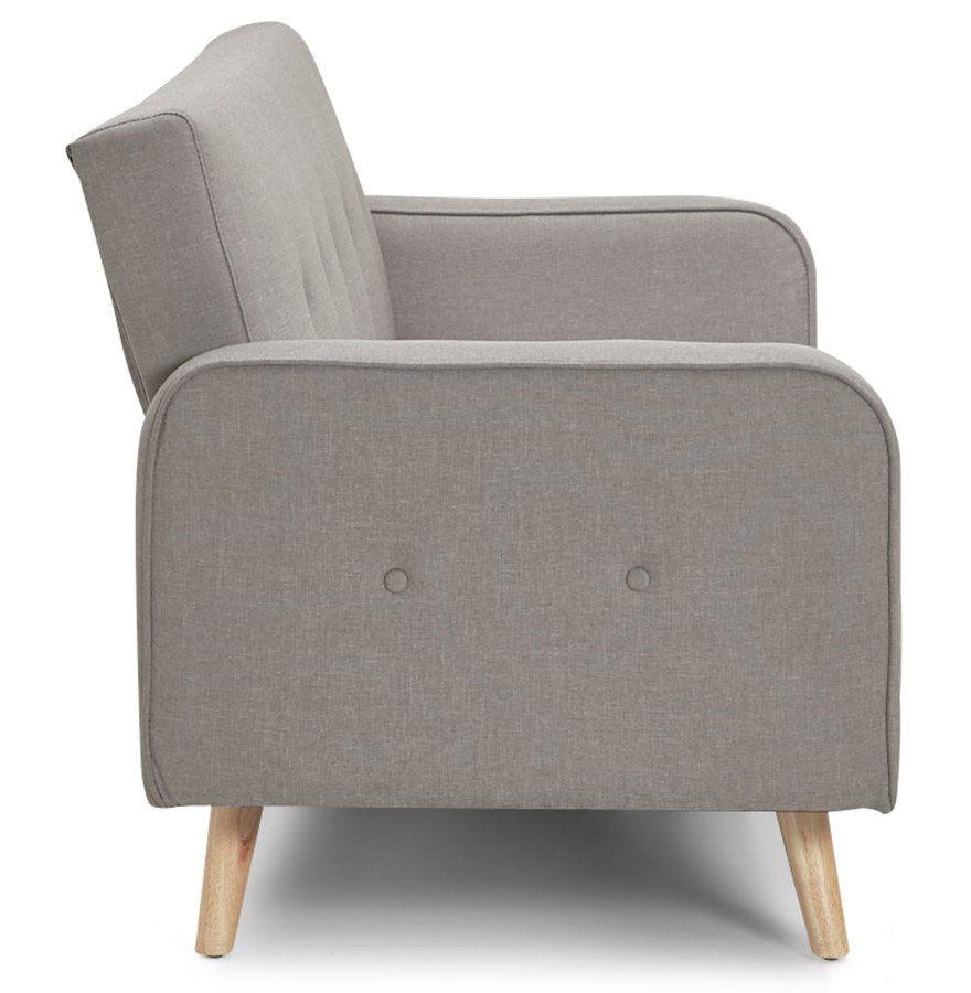Canapé droit convertible ´SLEEPY´ en tissu gris style scandinave