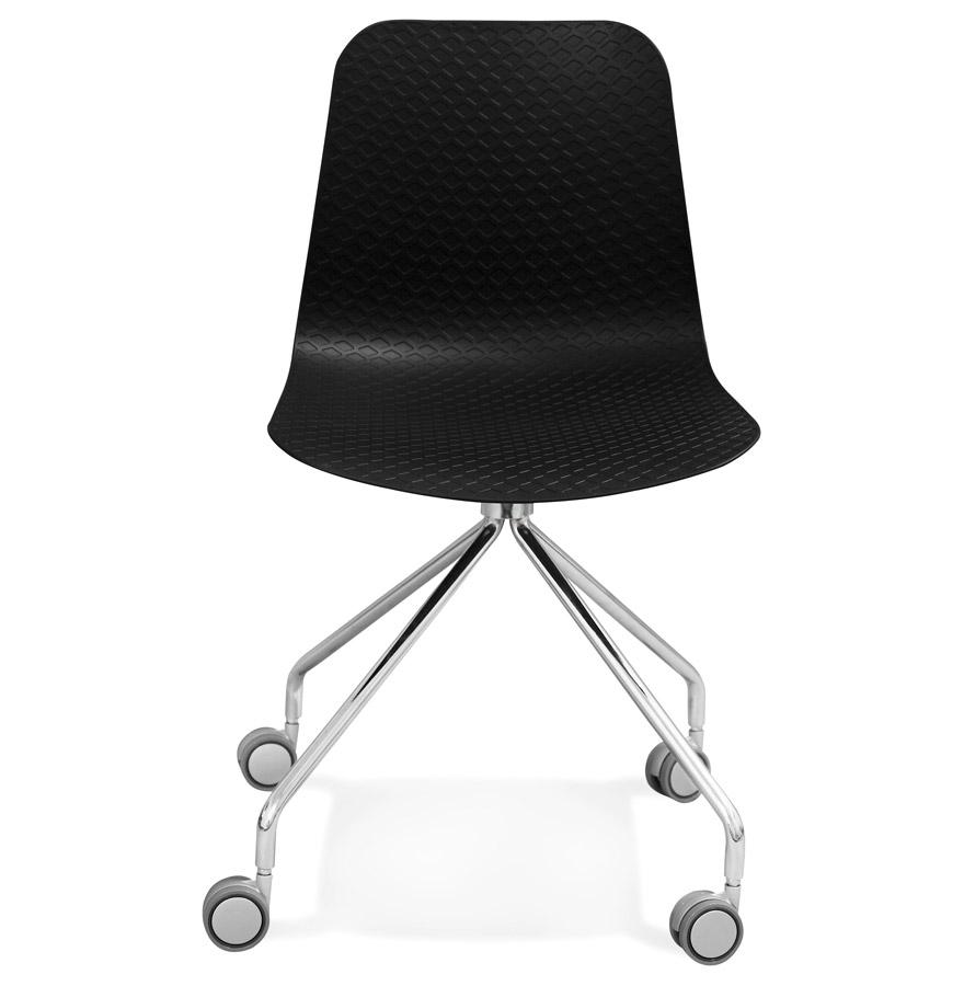 Chaise design de bureau ´SLIK´ noire sur roulettes