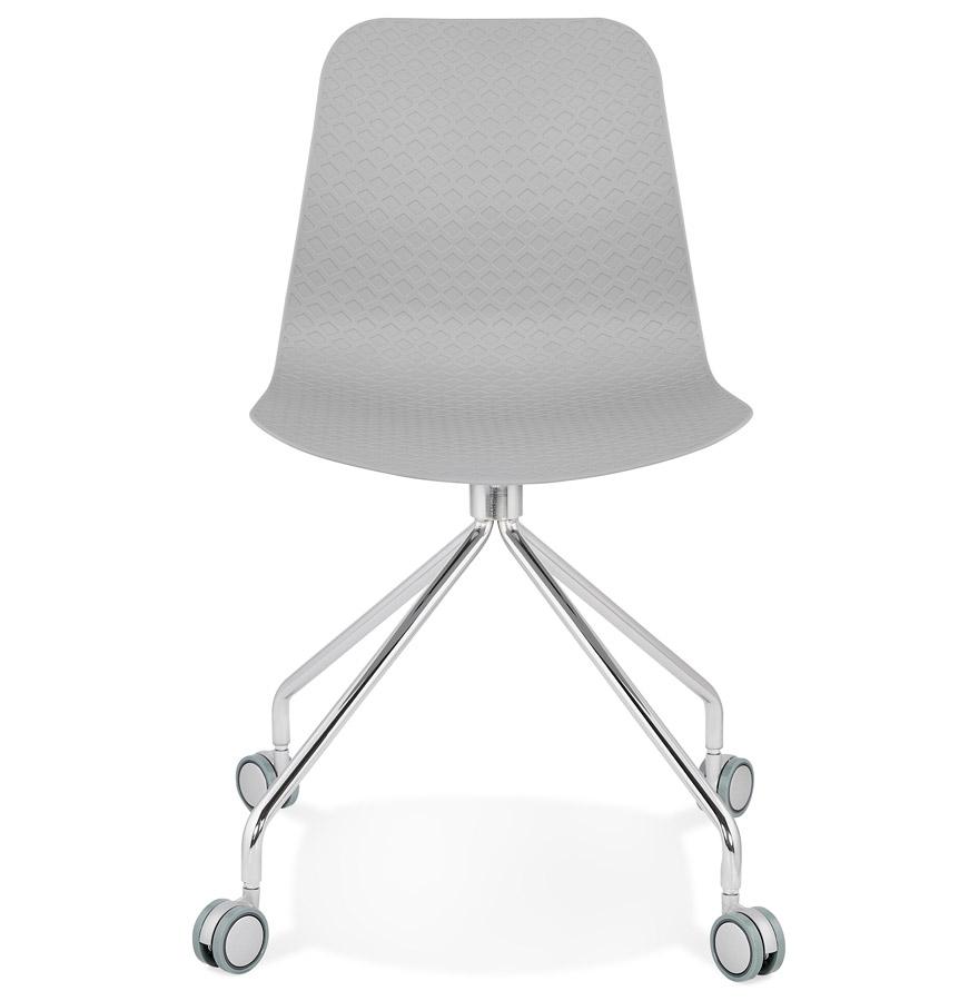 Chaise design de bureau ´SLIK´ grise sur roulettes