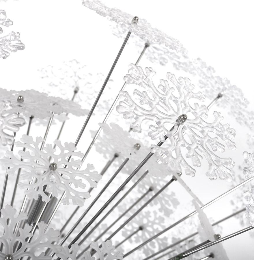 snowy chrome newsite 04 1 - Suspension ´SNOWY´ design flocons de neige