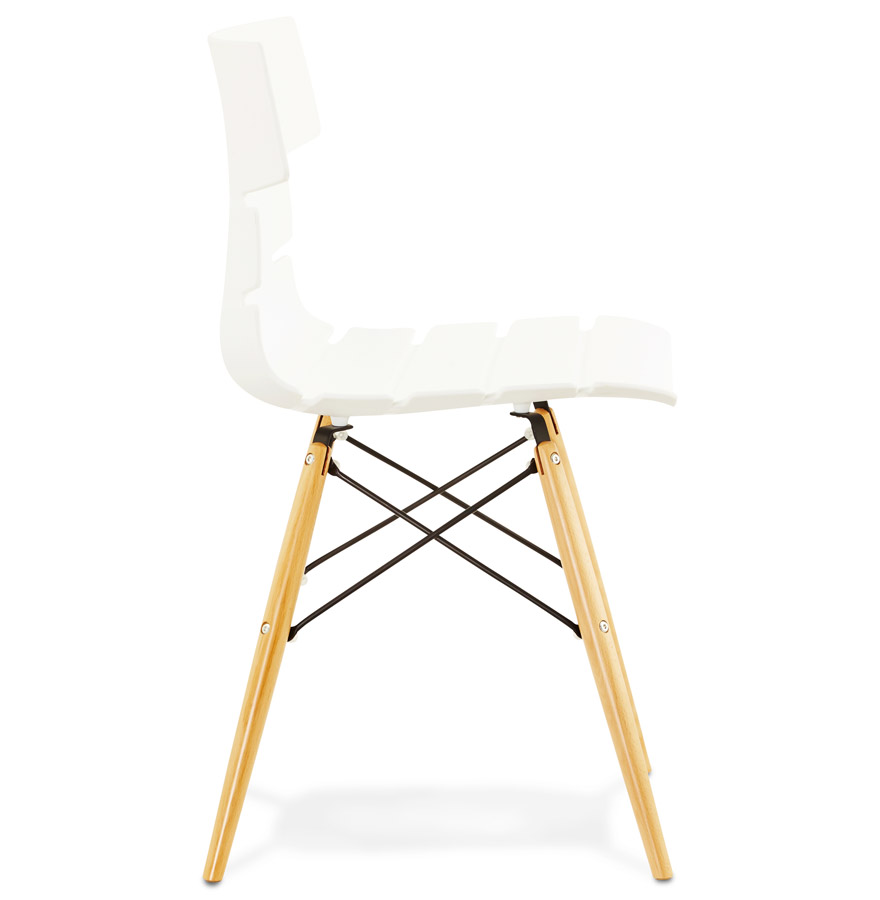 sofy white psd h2 03 - Chaise moderne ´SOFY´ blanche style scandinave