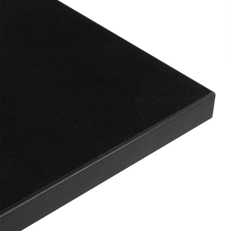 Plateau de table ´SPANO´ 80x80cm noir carré