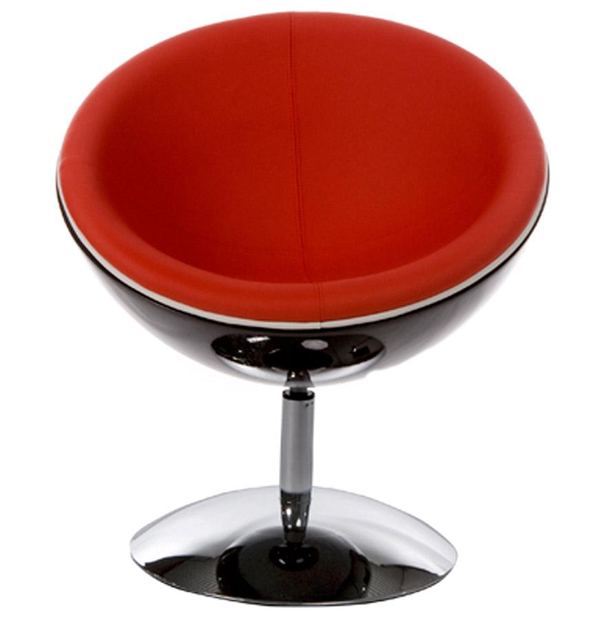 fauteuil boule sphera noir et rouge rotatif fauteuil design. Black Bedroom Furniture Sets. Home Design Ideas