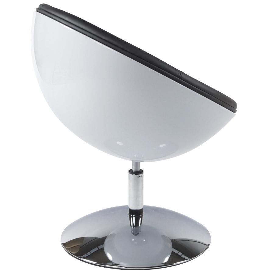 Fauteuil design boule ´SPHERA´ pivotant 360° blanc et noir