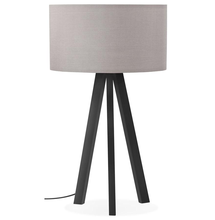 Lampe à poser design ´SPRING MINI´ avec abat-jour gris et trépied noir