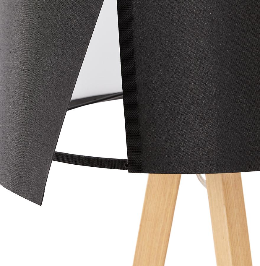lampe poser trepied spring mini noire lampe scandinave. Black Bedroom Furniture Sets. Home Design Ideas