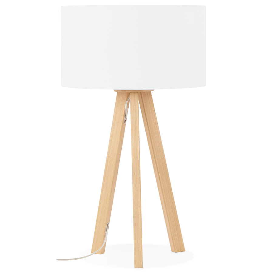 Lampe à poser trepied ´SPRING MINI´ avec abat-jour blanc style scandinave