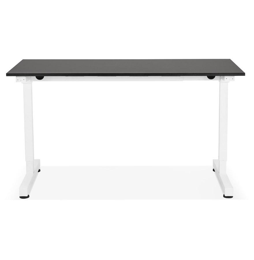 Bureau assis/debout droit ´STAND UP´ noir réglable en hauteur - 140x70 cm