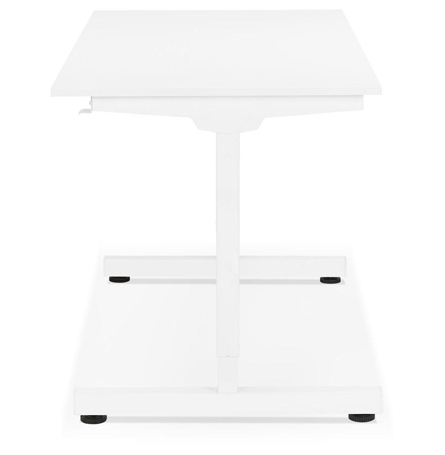 Bureau assis/debout droit ´STAND UP´ blanc réglable en hauteur - 140x70 cm