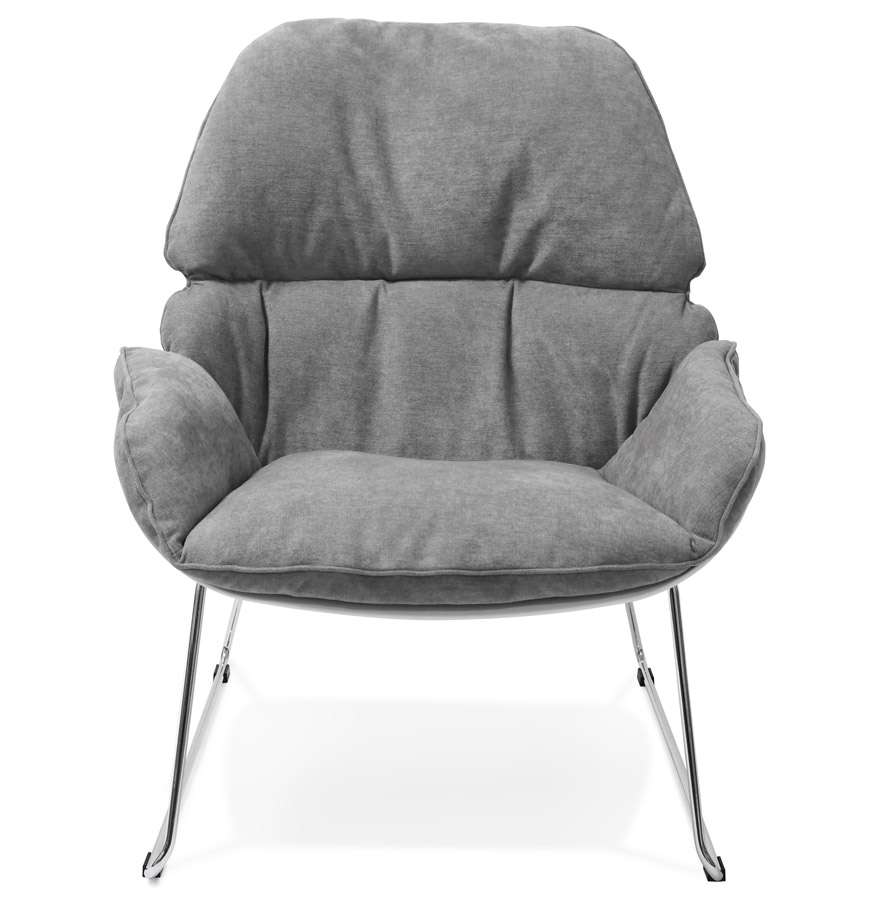 Fauteuil lounge design ´STARTUP´ gris clair en tissu