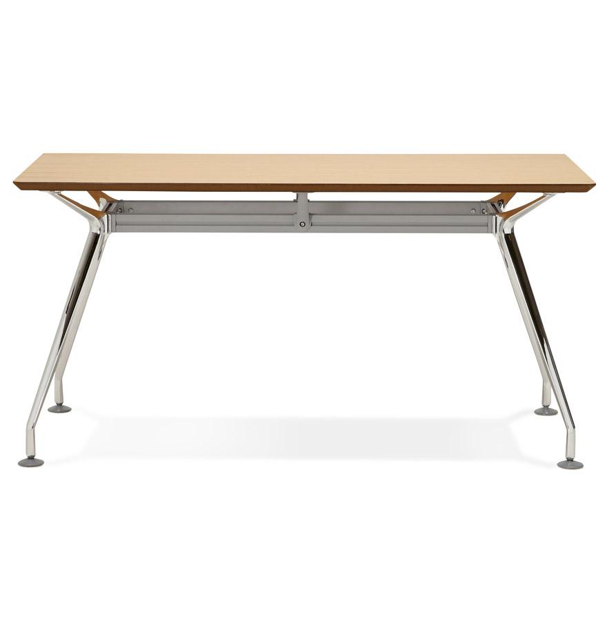recht design bureau station met een naturel houten blad 150x70 cm. Black Bedroom Furniture Sets. Home Design Ideas