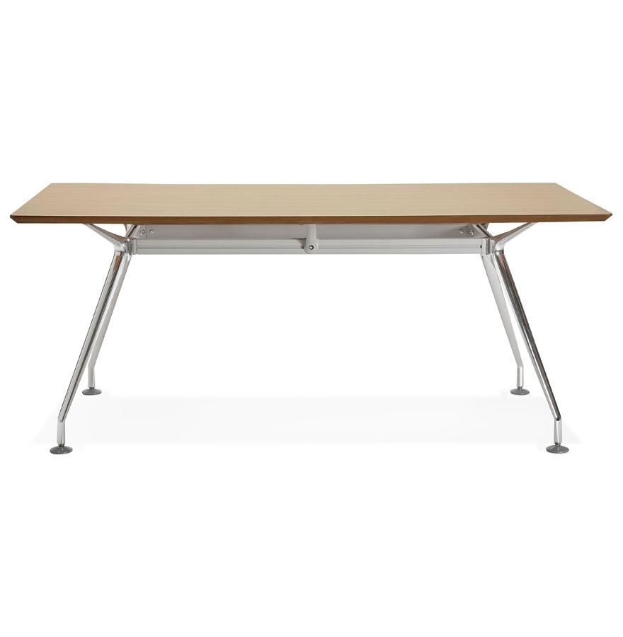 Grand bureau / table de réunion ´STATION´ en bois finition naturelle - 180x90 cm
