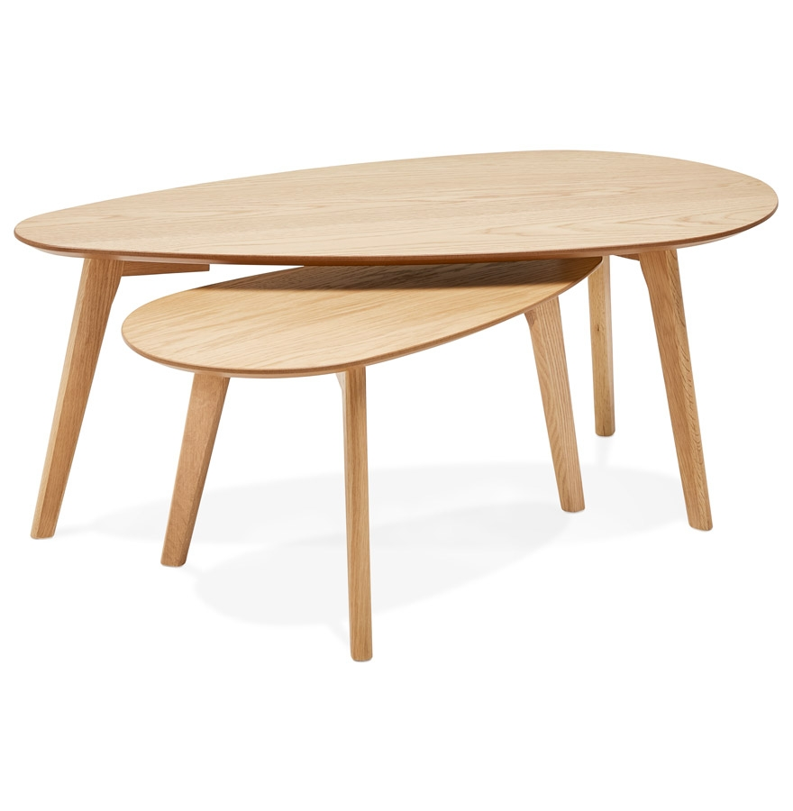 Tables gigognes design ´STOKOLM´ en bois finition naturelle