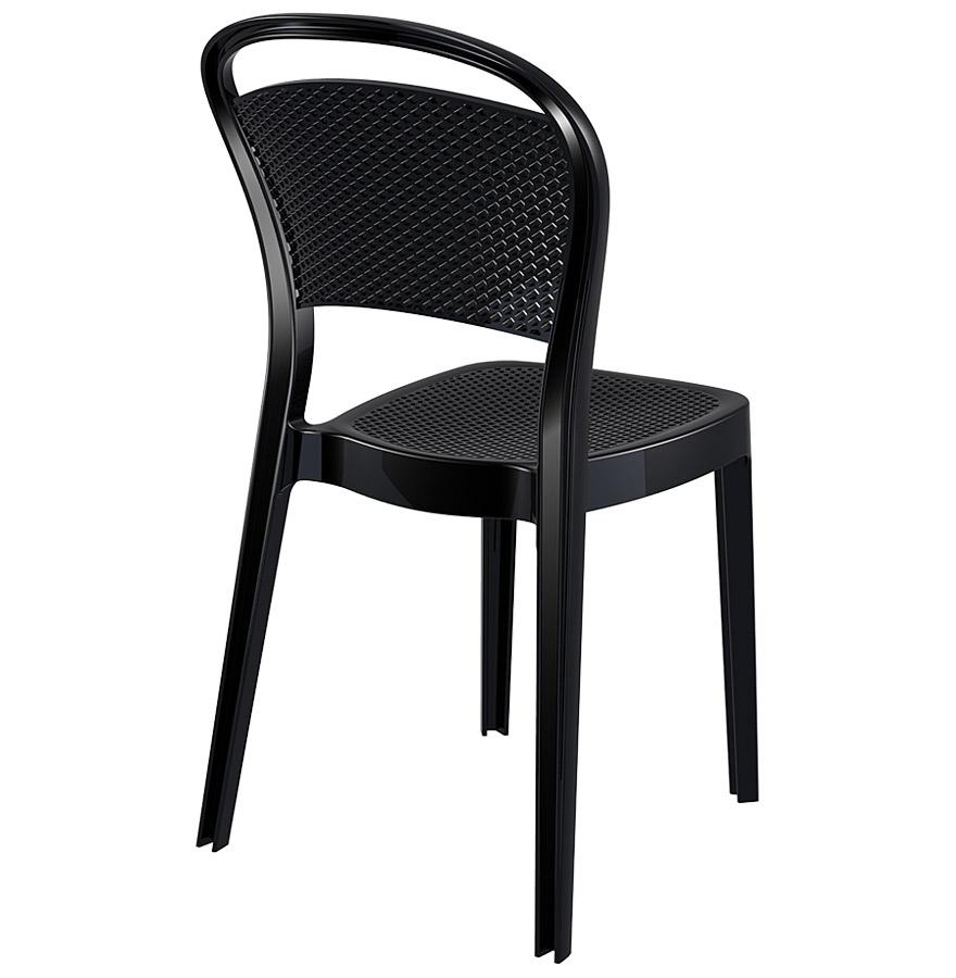 Chaise design ´STORM´ noire en matière plastique