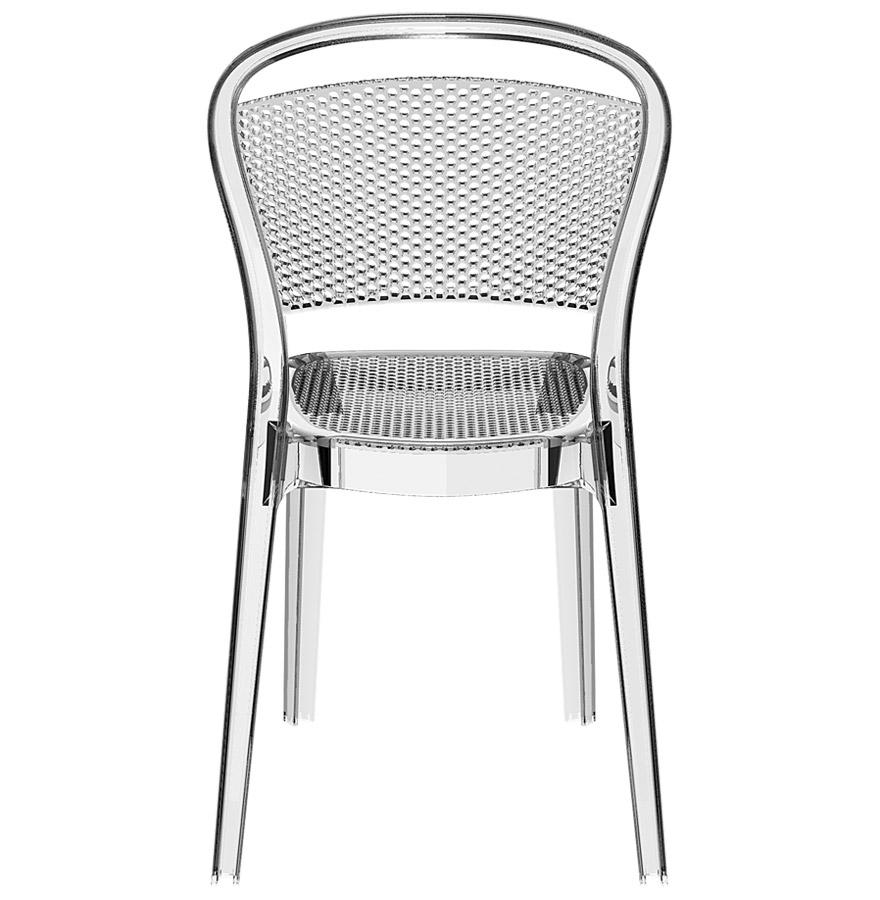 chaise design storm chaise en mati re plastique transparente. Black Bedroom Furniture Sets. Home Design Ideas