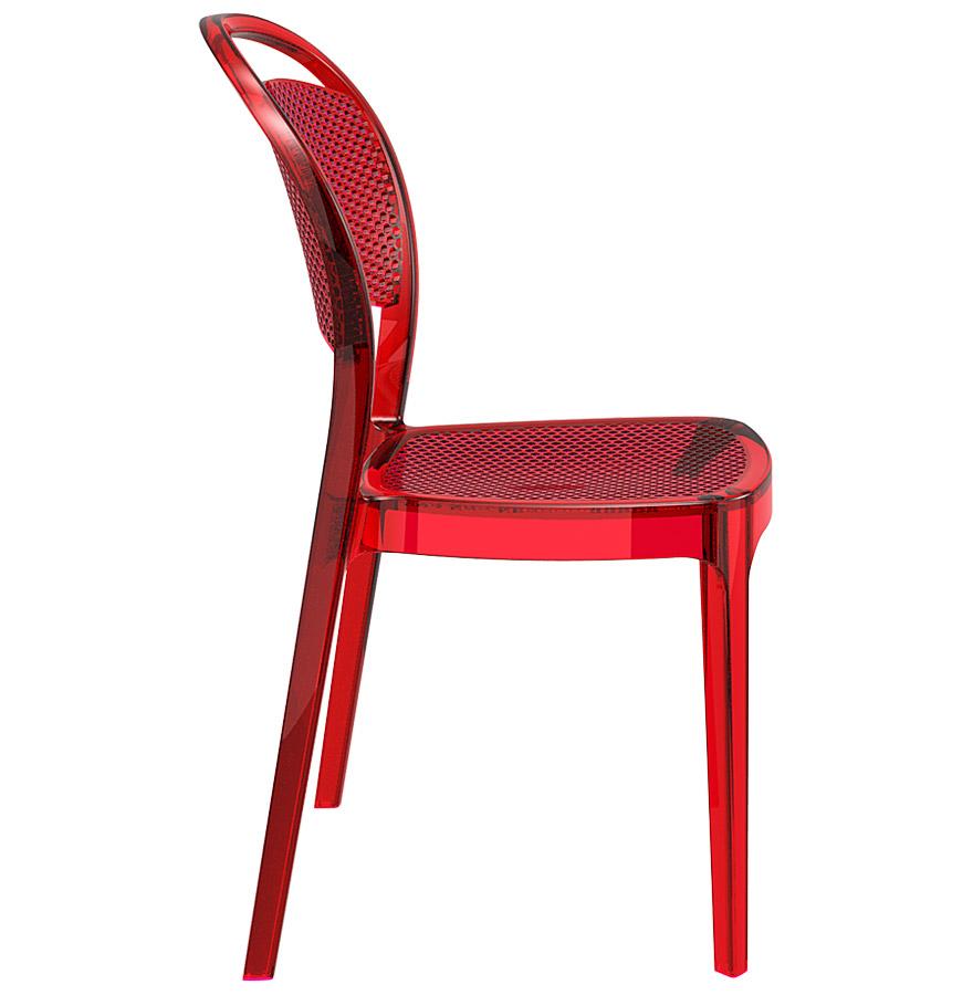 chaise design storm chaise en mati re plastique rouge transparente. Black Bedroom Furniture Sets. Home Design Ideas