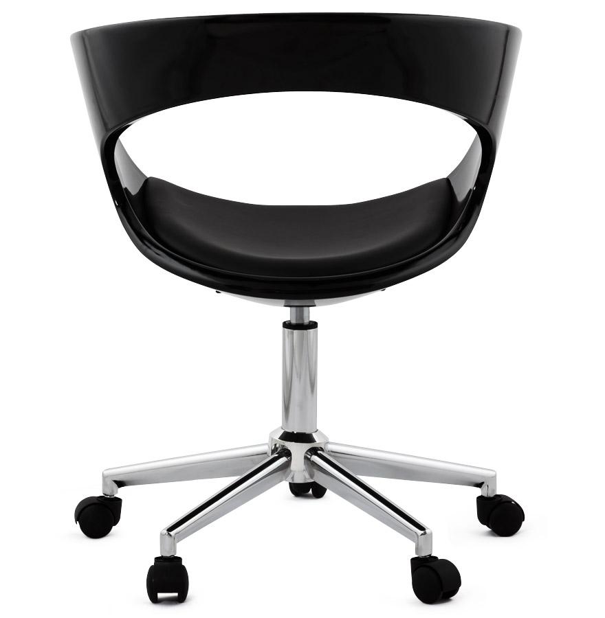 chaise de bureau strato noire sur roulettes fauteuil de bureau. Black Bedroom Furniture Sets. Home Design Ideas