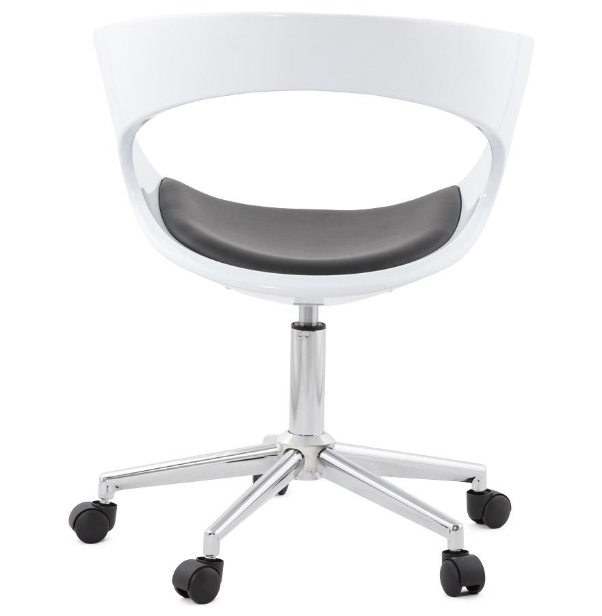 Chaise de bureau ´STRATO´ blanche et noire sur roulettes