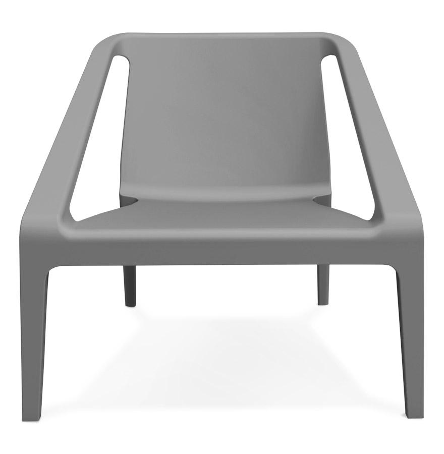 sunny dark grey 02 1 - Fauteuil lounge de jardin ´SUNNY´ gris foncé en matière plastique