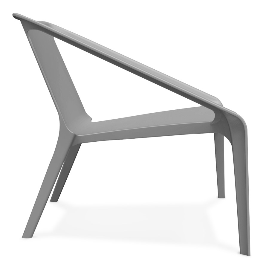 sunny dark grey 03 1 - Fauteuil lounge de jardin ´SUNNY´ gris foncé en matière plastique