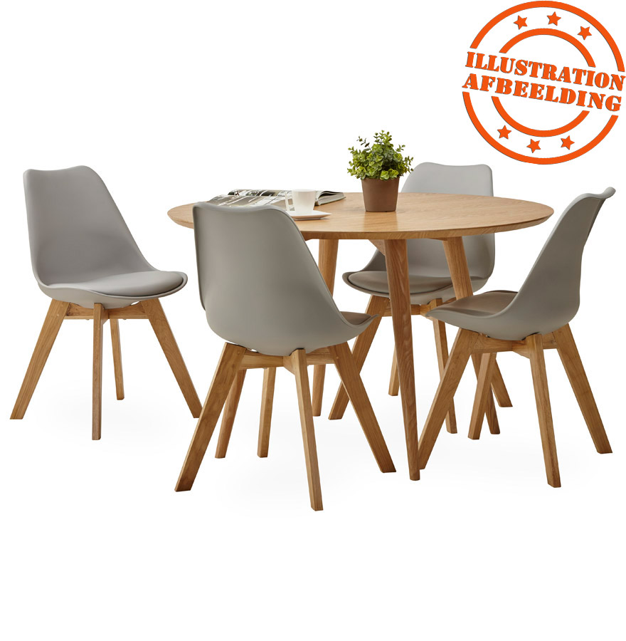 naturel houten ronde eettafel swedy in scandinavische stijl. Black Bedroom Furniture Sets. Home Design Ideas